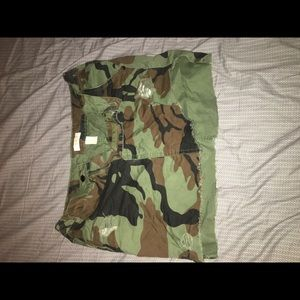 Camouflage Pencil Fitted Mini Skirt